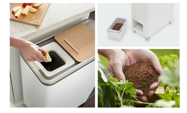 Bu çöp kutusu yiyecek artıklarını 24 saat içinde gübreye dönüştürüyor