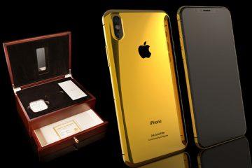 Altın kaplama iPhone 8