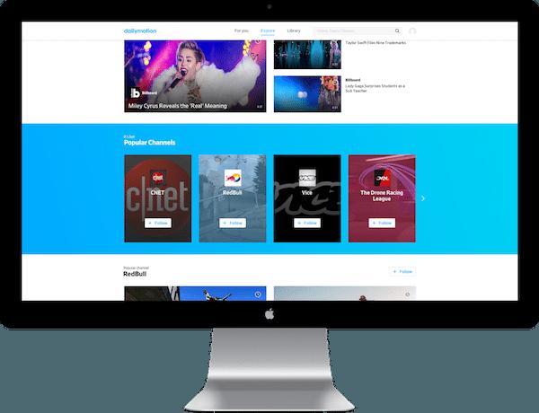 Dailymotion yepyeni platformuyla yayında